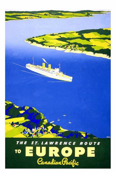 Rivers Mixed Media - Saint Lawrence River - Ocean Liners - Canadian Pacific - Retro Travel Poster - Vintage Poster by Studio Grafiikka