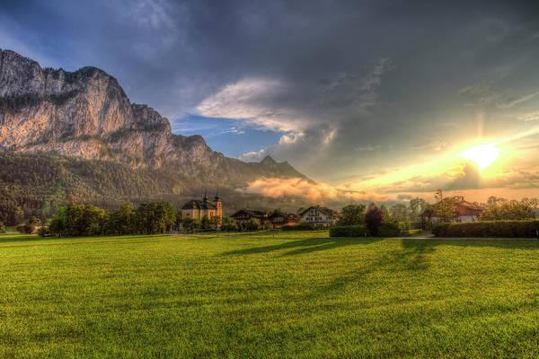 Wall Art - Photograph - Saint Lorenz Austria Sunset by David Pyatt