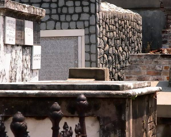 Photograph - Saint Louis Cemetery Tomb 65 by Jerry Sodorff