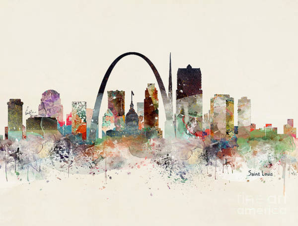 Saint Painting - Saint Louis Missouri by Bri Buckley