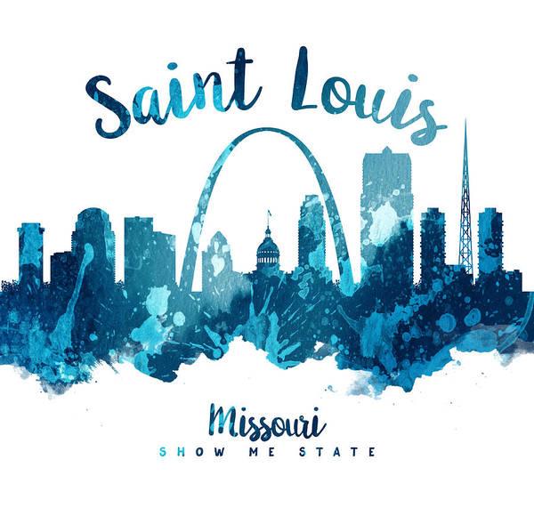 Wall Art - Painting - Saint Louis Missouri Skyline 27 by Aged Pixel