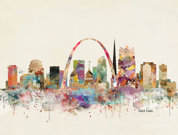 Saint Painting - Saint Louis Missouri Skyline by Bri Buckley