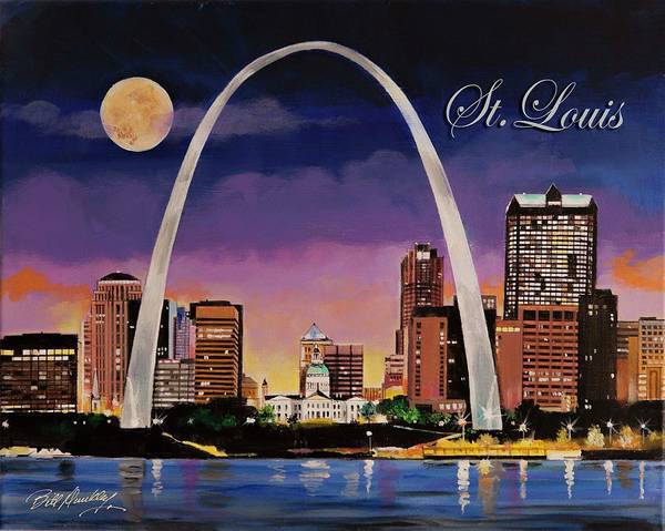 Gateway Arch Painting - Saint Louis Skyline by Bill Dunkley