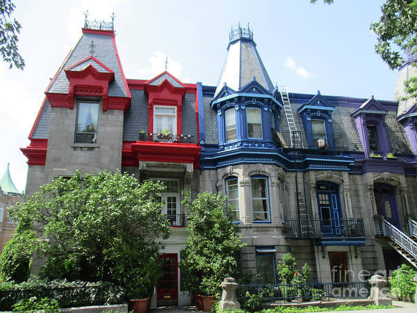 Montreal Neighborhoods Wall Art - Photograph - Saint Louis Square 6 by Randall Weidner