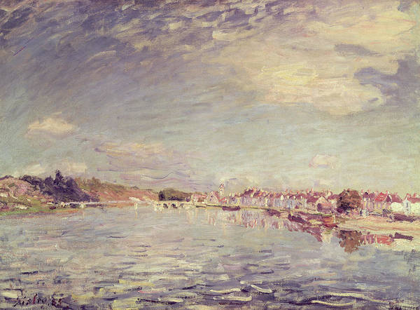 1885 Wall Art - Painting - Saint Mammes by Alfred Sisley