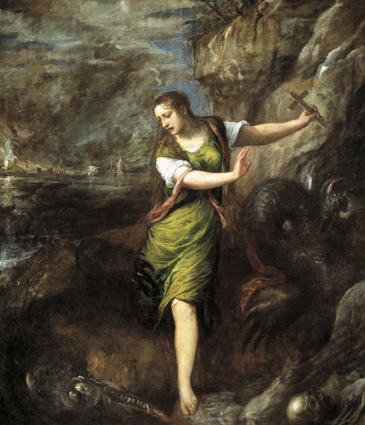 Painting - Saint Margaret  by Titian