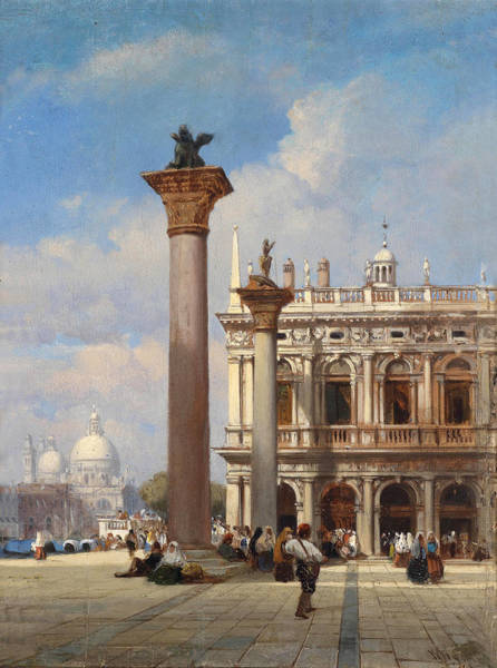 Wall Art - Painting - Saint Mark's Square In Venice by William Wyld