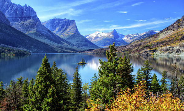 Wall Art - Photograph - Saint Mary Lake In Glacier National Park by Carolyn Derstine