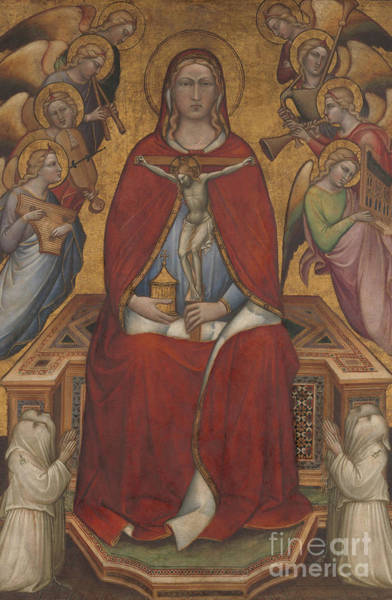 Yellow Trumpet Wall Art - Painting - Saint Mary Magdalen Holding A Crucifix by Aretino Luca Spinello or Spinelli