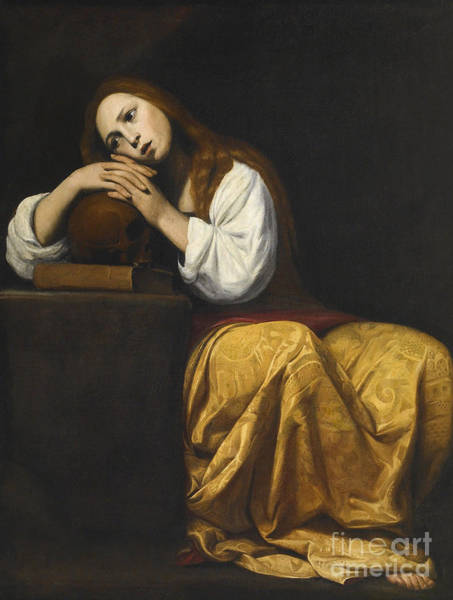 Thoughts Painting - Saint Mary Magdalene by Giovanni Antonio Galli