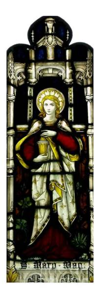 Photograph - Saint Mary Magdalene Stained Glass Window Soft Effect by Rose Santuci-Sofranko