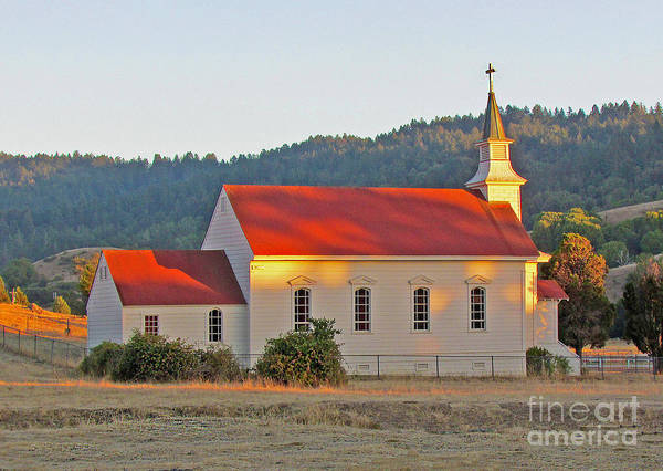Photograph - St. Mary's Church At Sunset by Joyce Creswell