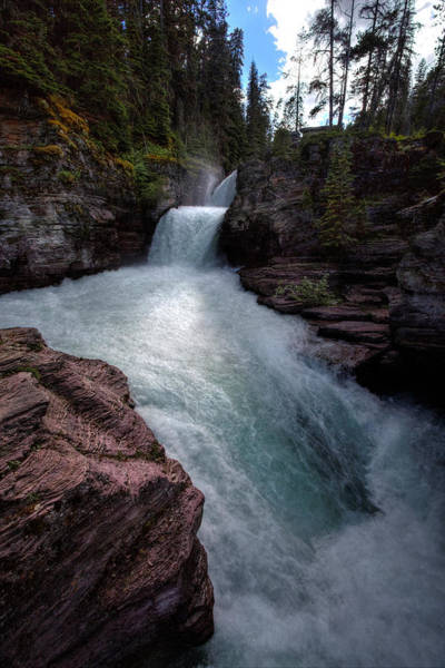 Photograph - St. Mary Falls by David Andersen