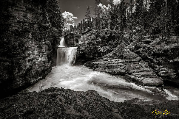 Photograph - Saint Mary's Waterfall Bw by Rikk Flohr