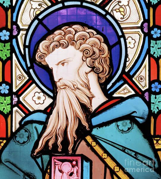 Wall Art - Glass Art - Saint Matrhew by Robert Turnill Bayne