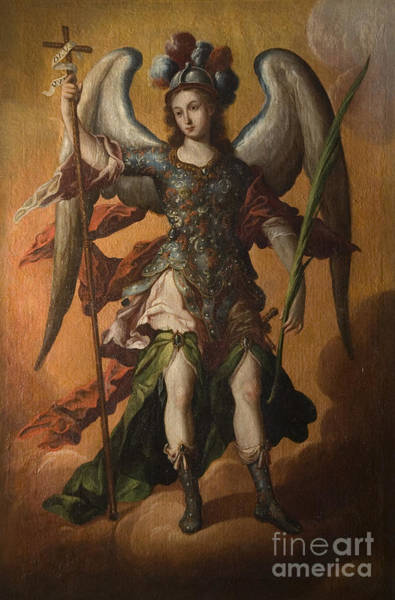 Painting - Saint Michael The Archangel by Celestial Images