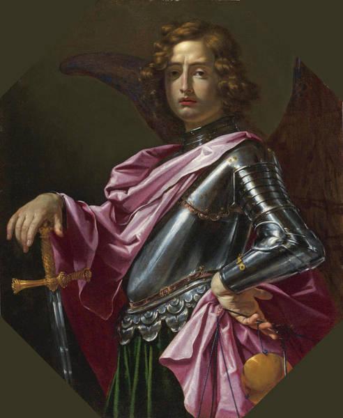 Cesare Painting - Saint Michael The Archangel by Cesare Dandini