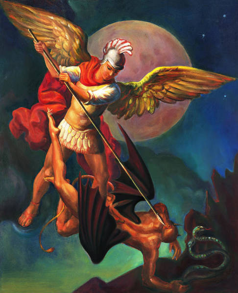 Wall Art - Painting - Saint Michael The Warrior Archangel by Svitozar Nenyuk