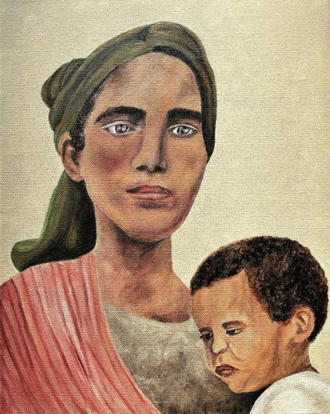 Wall Art - Painting - Saint Mother by Mikayla Ruth Koble