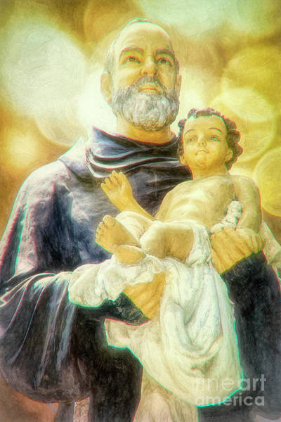 Pio Photograph - Saint Padre Pio Holding The Infant Jesus by Davy Cheng