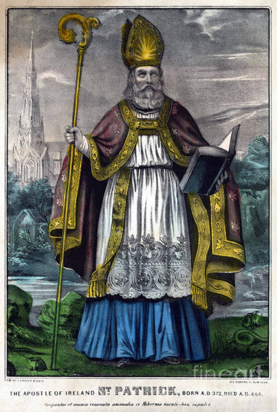 Painting - Saint Patrick by Granger