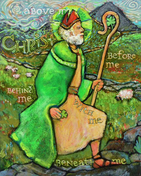 Wall Art - Painting - Saint Patrick by Jen Norton