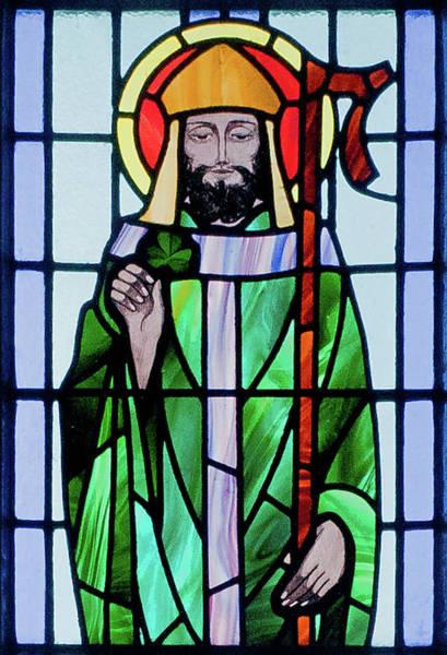 Saint Patricks Day Photograph - Saint Patrick Window by Ellen Henneke