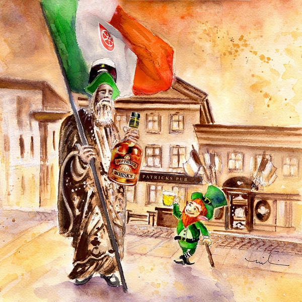 Painting - Saint Patricks Pub by Miki De Goodaboom