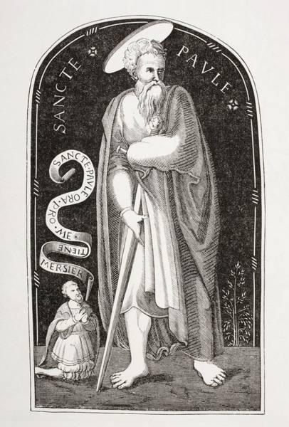 Wall Art - Drawing - Saint Paul. Paul Of Tarsus. Paul The by Vintage Design Pics