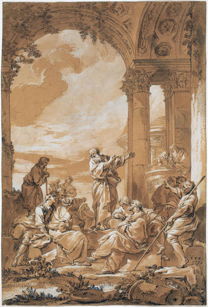 Drawing - Saint Paul Preaching In Athens by Giovanni Paolo Panini