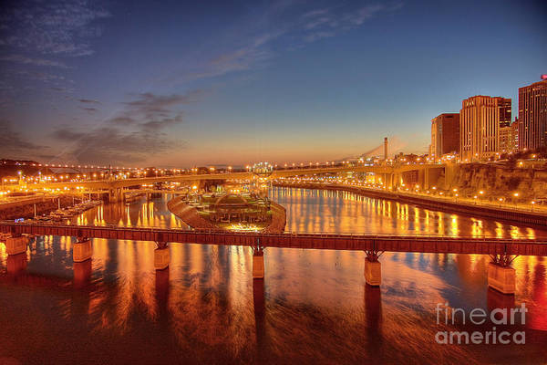 Photograph - Saint Paul Skyline At Night by Wayne Moran