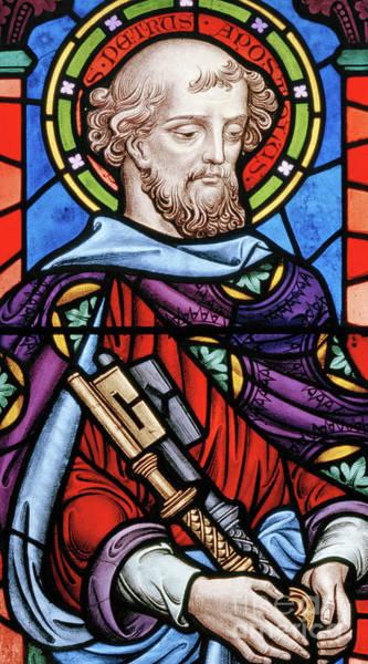 Wall Art - Glass Art - Saint Peter by John Millner Allen