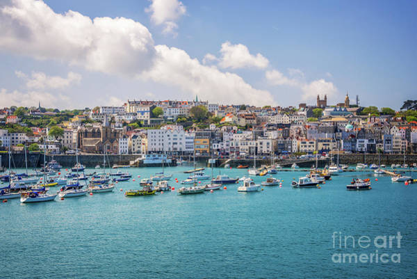 Wall Art - Photograph - Saint Peter Port Guernsey by Delphimages Photo Creations