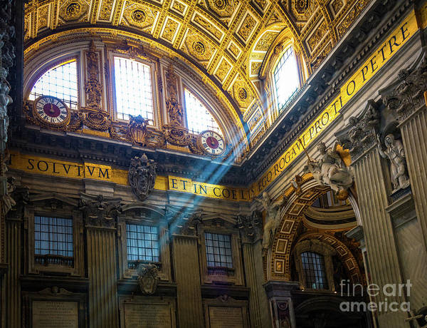Wall Art - Photograph - Saint Peter's Beams Of Light by Inge Johnsson