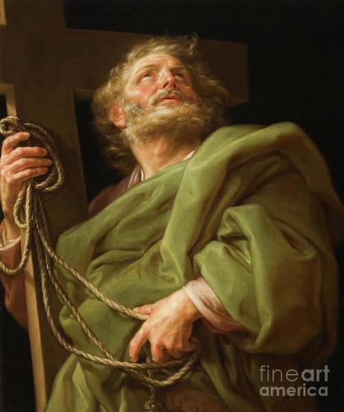 Looking Up Painting - Saint Philip  by Pompeo Girolamo Batoni