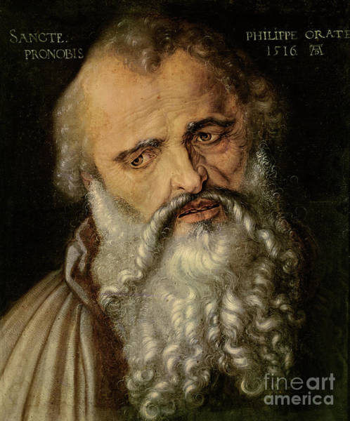 Wall Art - Painting - Saint Philip The Apostle by Albrecht Durer