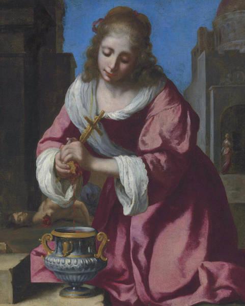 Painting - Saint Praxedis by Jan Vermeer