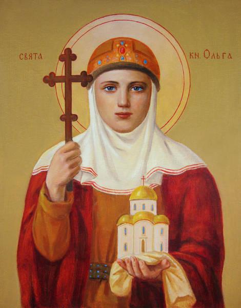 Wall Art - Painting - Saint Princess Olga by Svitozar Nenyuk