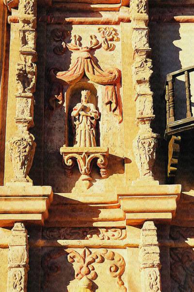 Photograph - San Xavier Del Bac Saint Sculpture by Tatiana Travelways