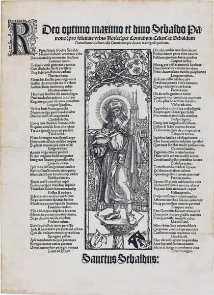 Drawing - Saint Sebaldus Standing On A Column by Albrecht Durer