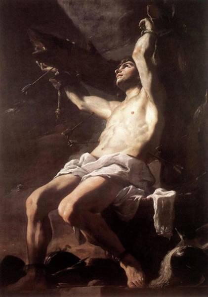 Painting - Saint Sebastian By Mattia Preti  by Mattia Preti