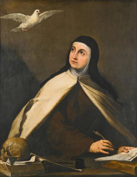 Wall Art - Painting - Saint Teresa Of Avila by Jusepe de Ribera
