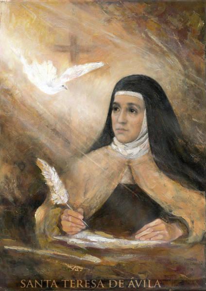 Wall Art - Painting - Saint Teresa Of Avila by Terezia Sedlakova