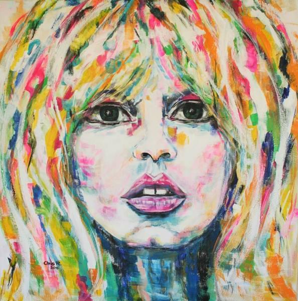 Saint Tropez Babe Art Print