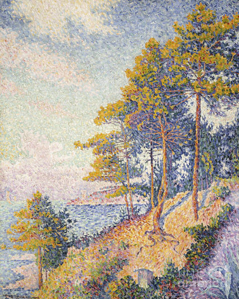 Bay Of Green Bay Wall Art - Painting - Saint Tropez, The Coastal Path by Paul Signac