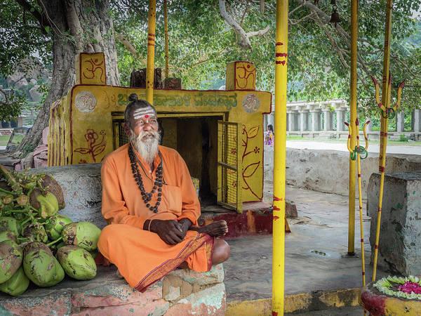 Photograph - Saint Wearing Saffron Robes. by Usha Peddamatham