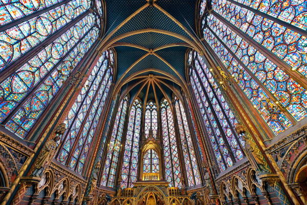 Wall Art - Photograph - Sainte Chapelle by Songquan Deng