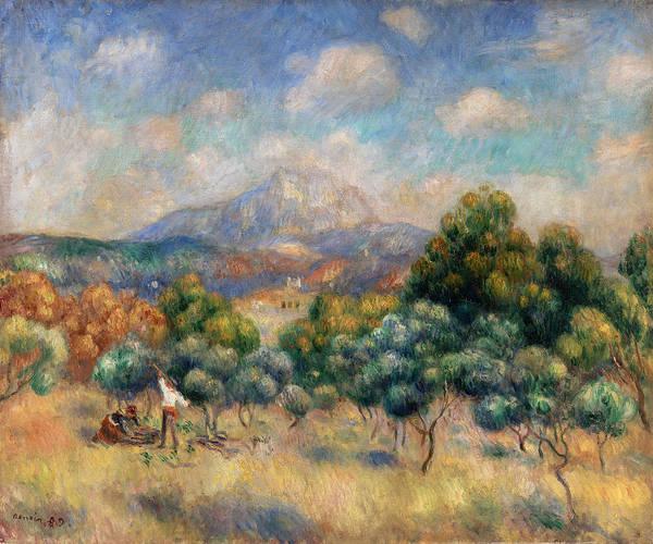 Wall Art - Painting - Sainte-victoire Mountain by Pierre-Auguste Renoir