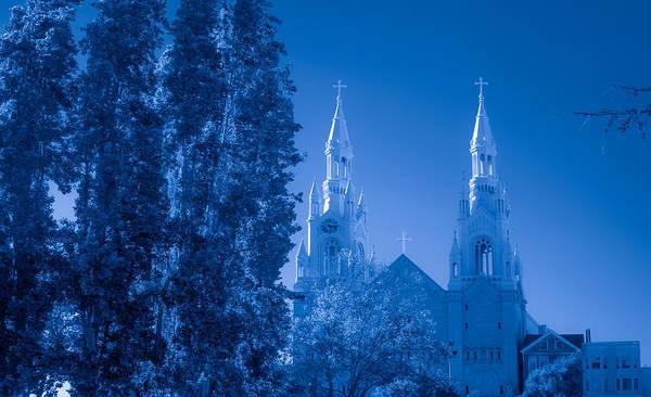 Photograph - Saints Peter And Paul Church In Blue by Bonnie Follett