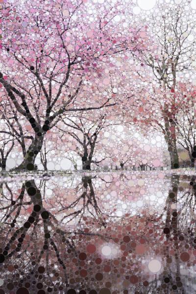 Blooming Tree Mixed Media - Sakura Spring Pink by Susan Maxwell Schmidt
